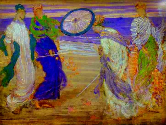휘슬러는 색채라는 악기로 [심포니]와 같은 그림을 그렸습니다.