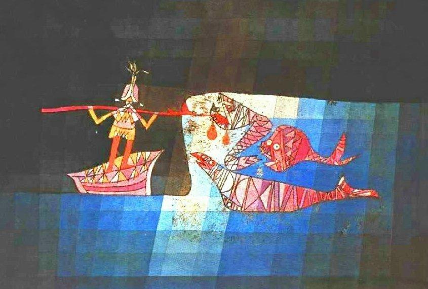 신밧트의 모험적인 항해의 이야기가 있는 클레의 작품입니다.